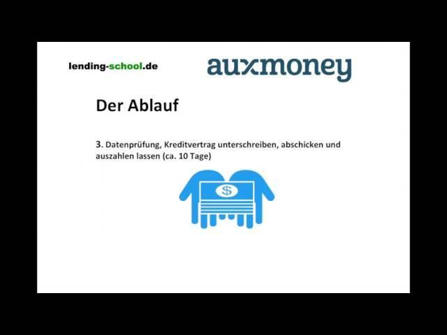 Auszahlungsdauer Kredit bei Auxmoney